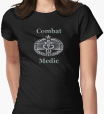 Army Combat Medic Badge (t-shirt) Women's Fitted T-Shirt