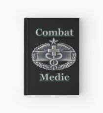 Army Combat Medic Badge (t-shirt) Hardcover Journal