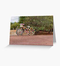 The Knitted Bike Greeting Card