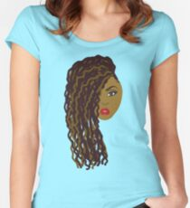 Natural Hair Brown Dreadlocs / Twists Women's Fitted Scoop T-Shirt