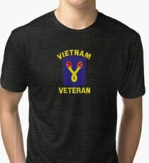 The 196th Infantry Brigade Vietnam Veteran Tri-blend T-Shirt