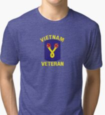 The 196th Infantry Brigade Vietnam Veteran Tri-blend T-Shirt