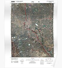 Topographic Map Colorado Springs.Colorado Topographic Map Posters Redbubble