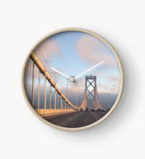 San Francisco Bay Bridge at Sunset Clock