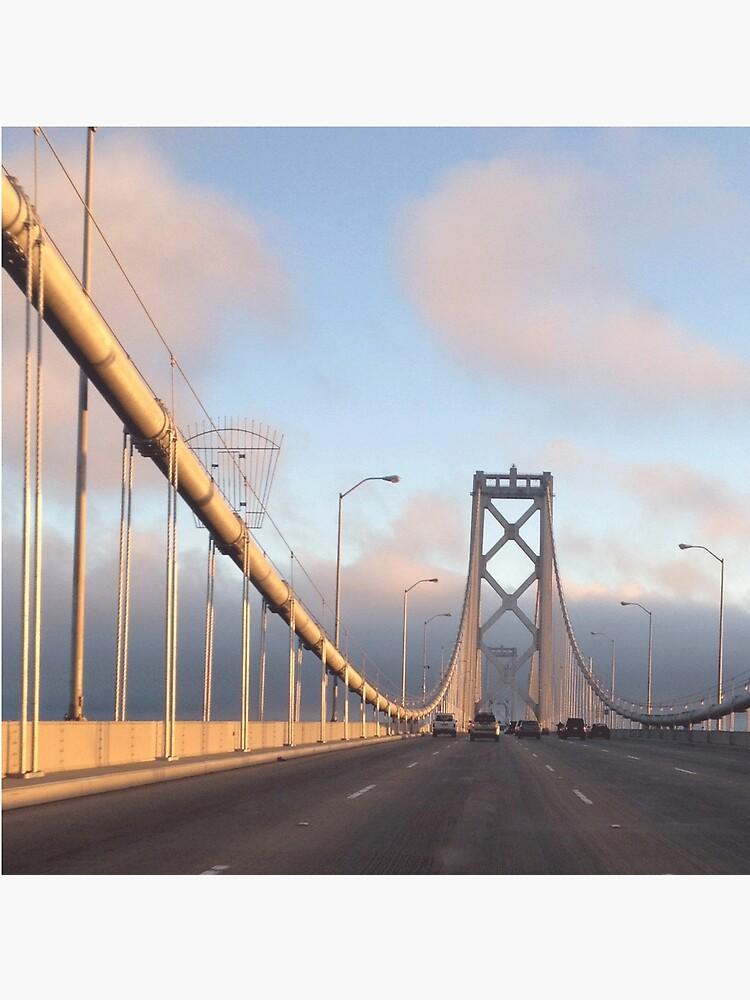 Puente de la bahía de San Francisco al atardecer de fitch