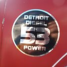 Detroit Diesel 53 Power - bonnet decal by Joe Hupp