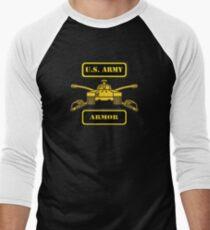 Army Armor T-Shirt Men's Baseball ¾ T-Shirt