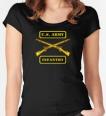 Army Infantry T-Shirt Women's Fitted Scoop T-Shirt
