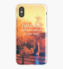 Devour All Who Stand In Your Way (Bridge) iPhone Case