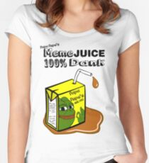 Papa Pepe's Meme Juice Women's Fitted Scoop T-Shirt