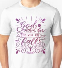 God is Within Her - Purple T-Shirt