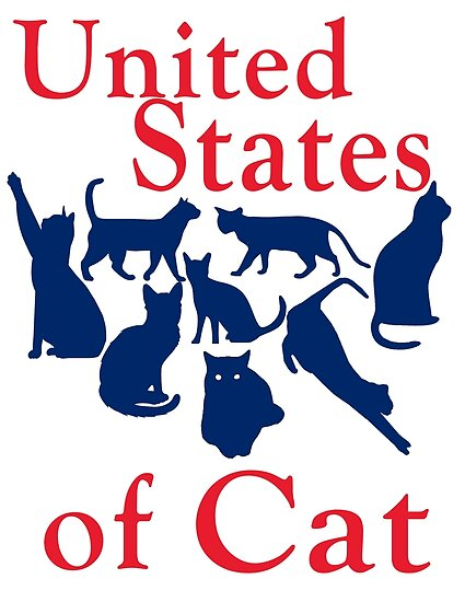 Funny United States Map.United States Of Cat Funny Humorous Usa Map Posters By