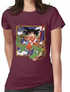 Goku, Kinto-un and Sheron Womens Fitted T-Shirt
