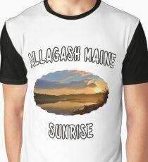 Allagash, Maine Sunrise Graphic T-Shirt