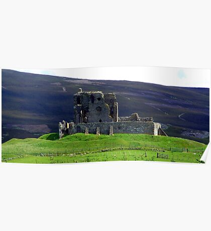 Auchindoun Castle Poster