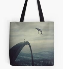Boy and the flying whale Tote Bag
