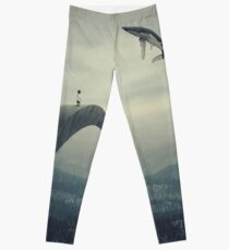 Boy and the flying whale Leggings