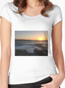 Sunset at La Perouse, Sydney, NSW, Australia Women's Fitted Scoop T-Shirt