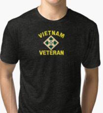 4th Infantry Vietnam Veteran Tri-blend T-Shirt