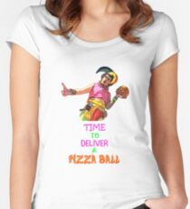 Time To Deliver A PIZZA BALL Women's Fitted Scoop T-Shirt