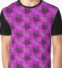 Natural Blooming Flowers -  Violet Anemeone Graphic T-Shirt