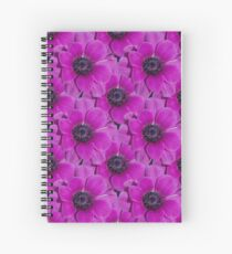 Natural Blooming Flowers -  Violet Anemeone Spiral Notebook