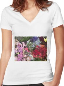 Beautiful flowers I captured  Women's Fitted V-Neck T-Shirt