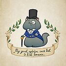 Dapper Regency Cat Notebook by aimeekitty
