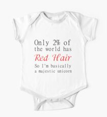 RED HAIR MAJESTIC UNICORN One Piece - Short Sleeve