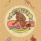 Helper Dog Notebook by aimeekitty