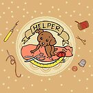 Helper Dog Pillow, Mug, Phone Case by aimeekitty