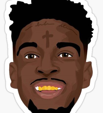 21 Savage Vector Sticker Sticker