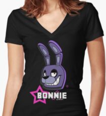 Bonnie (Five Nights At Freddy's) Women's Fitted V-Neck T-Shirt