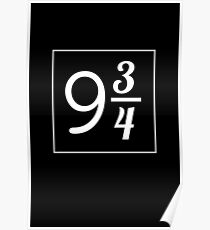 Cool 9 3/4 Numbers  Poster