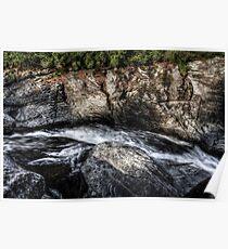 a river runs through it | linville falls Poster