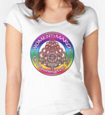 Women's March on Washington 2017 Rainbow Women's Fitted Scoop T-Shirt