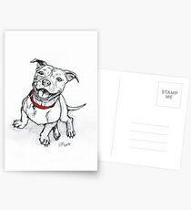 Happy Staffie Postcards