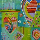 Playful Abstract Rainbow Hearts by ColouredDays