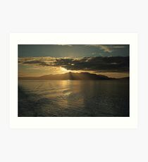 Isle of Arran at Sunset Art Print