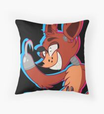 Cartoon Foxy (Five Nights At Freddy's) Throw Pillow