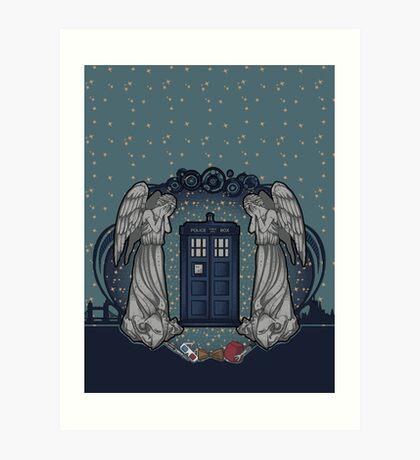the Doctor crest ART NOUVEAU Art Print