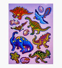 Several colorful dinosaurs Photographic Print