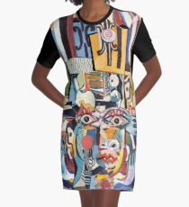The Magician on Television Graphic T-Shirt Dress