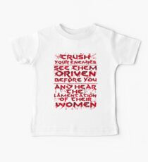 Conan Blood Quote Baby Tee