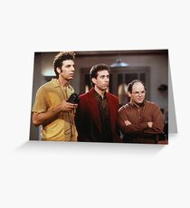 George, Jerry and Kramer Greeting Card
