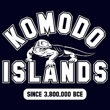 Komodo Islands Since 3800000 BCE White by noroads