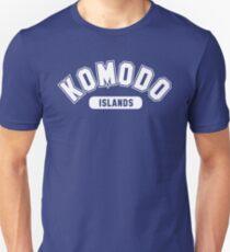 Komodo Islands Basic Varsity White Unisex T-Shirt