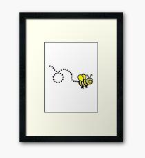 Flying bee Framed Print