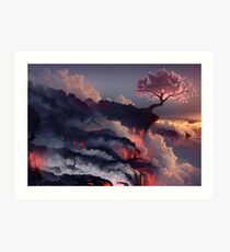 Japanese cherry blossom Art Print