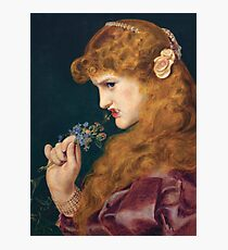 Love's shadow, Frederick Sandys Photographic Print